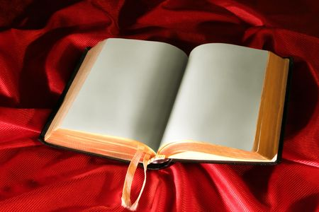 songbook: Book on Red light effected background
