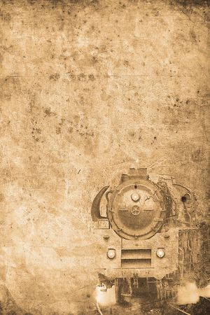 mangy: old steam locomotive in retro design look Stock Photo