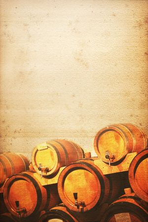 cask: wine cellar background old and used look