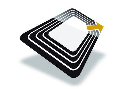 bar code reader: La nueva tecnolog�a de la Identificaci�n de Radio Frecuencia Foto de archivo