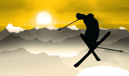 Skiing Stock Photo - 4936351