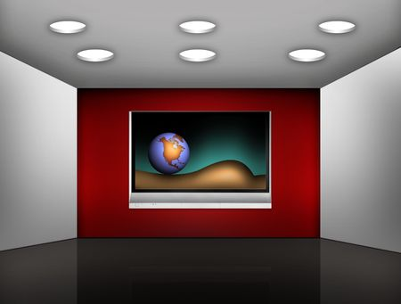 orientated: media room with plasma television on the wall