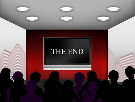 end of the world: media room with plasma television on the wall