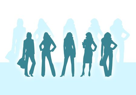 the emancipation: silhouettes of business women