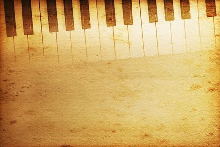 old historical keyboard of a grand piano Stock Photo