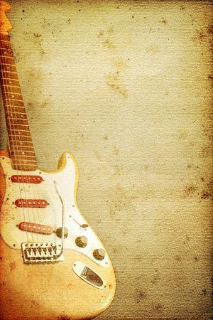 tremolo: Bella chitarra su vecchi nostalgici sfondo utilizzato guardare