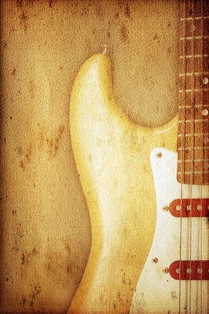 Beautiful guitar on old nostalgic background used look Stock Photo - 4967359