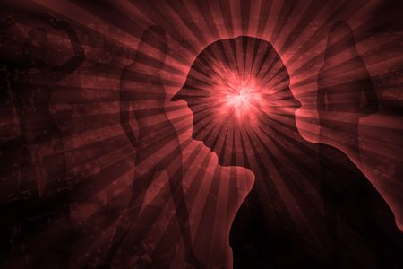 young person with massive psychic pressure Stock Photo - 4936373