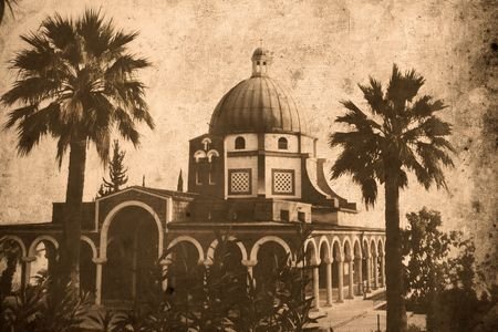 beatitude: Retro look of the Orient - Mount Beatitude Stock Photo