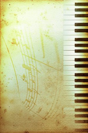 old mouldy piano blues or jazz background Stock Photo