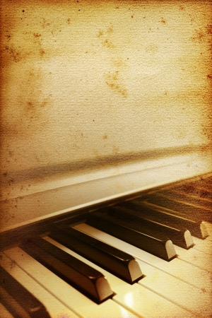 blues: old mouldy piano blues or jazz background Stock Photo