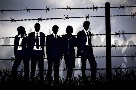 political system: los gerentes de bancos tras el alambre de p�as