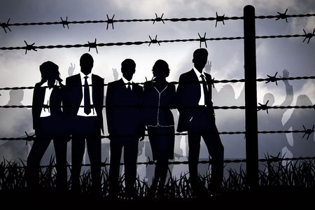 political system: the banking managers behind barbed wire