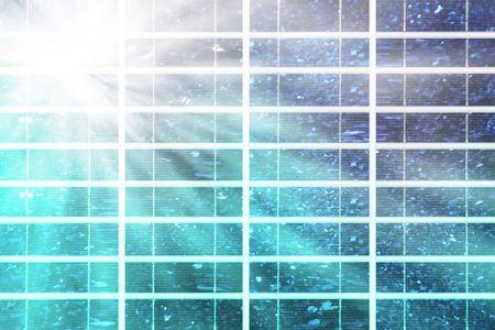 solar panel with blue sky an sunbeam Stock Photo - 4936828