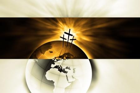 manos levantadas al cielo: La creaci�n es salvado por el Se�or Jesucristo