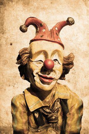 clown cirque: vieux clown dr�le � regarder design r�tro