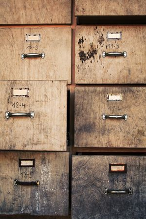 secondhand: old business office used filing cabinet