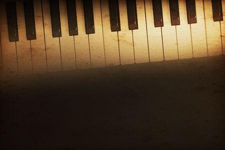 teclado piano: antiguo teclado de un piano de cola