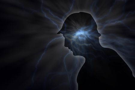 young person with massive psychic pressure Stock Photo - 4936796