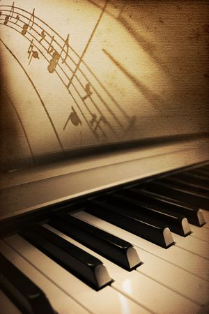 elegant nice piano blues or jazz background Stock Photo - 4967110