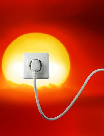 white socket on a bautiful sunset free energy