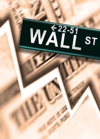 Big Worldwide Financial Crash on Wall Street photo