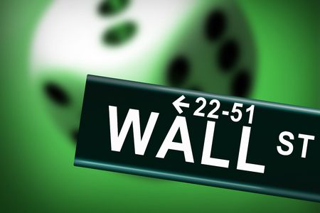 Wall street financial crash photo