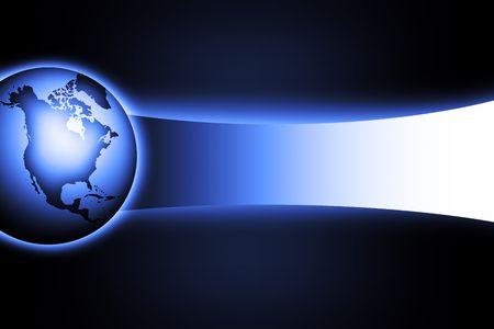 lighted: world Stock Photo
