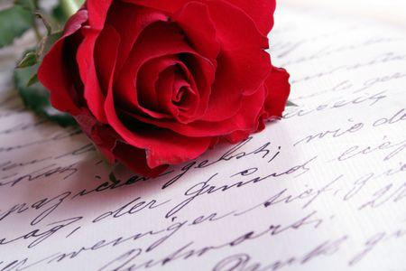 carta de amor: LoveLetter Foto de archivo