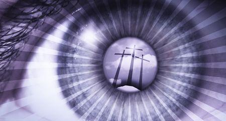 alabando a dios: ver a golgatha el lugar de la esperanza  Foto de archivo