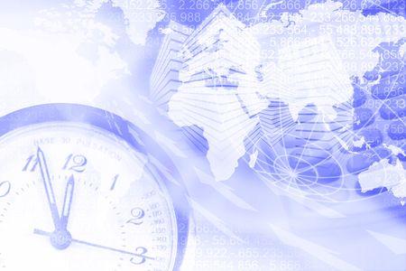 woman clock: Fondo de negocio con todos los detalles