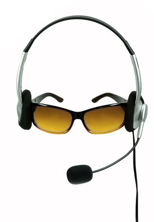 abstract Silhoutette of an call-center-agent Stock Photo - 4938912