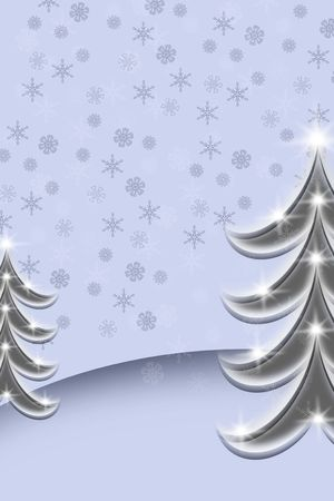 bright christmas tree in the dark night photo