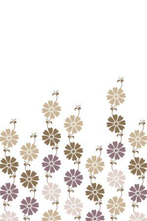 seventies: elegant frame of flowers like seventies