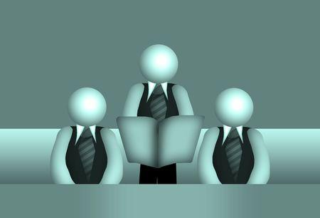 dissension: jury of three business people