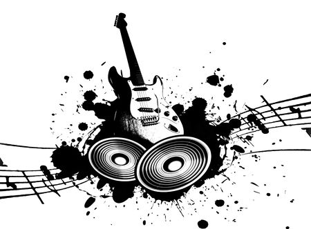 funk: cool wacky grunge Music background with music details
