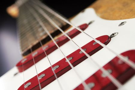 tremolo: close up of an electric Guitar