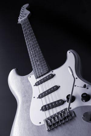 strat: close up of an electric  Guitar