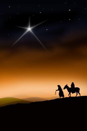 historias biblicas: Todo el camino de Nazaret a Bel�n