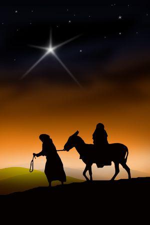 All the way from Nazareth to Bethlehem Stock Photo