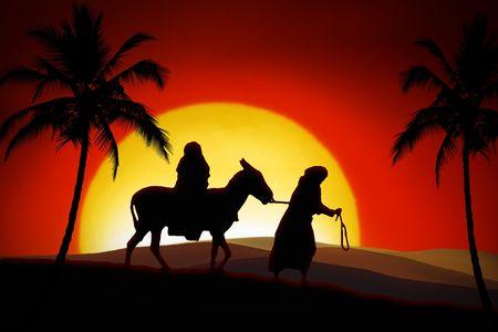 All the way from Nazareth to Bethlehem Stock Photo - 4939082