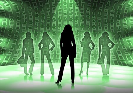 silhouettes of business women Stock Photo - 4938988
