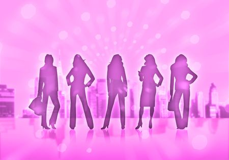 silhouettes of business women Stock Photo - 4939171