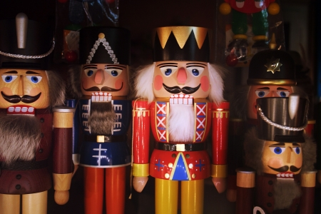many nutcrackers together in the christmas time