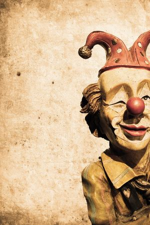 mangy: old funny clown in retro design look