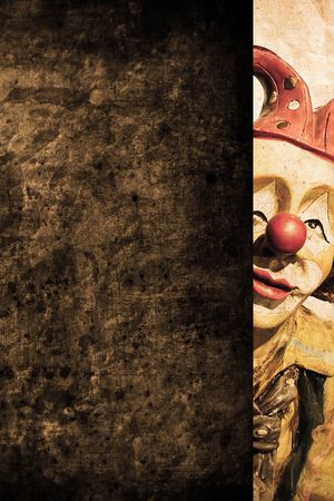 clown circus: old funny clown in retro design look