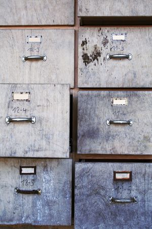 mangy: old business office used filing cabinet