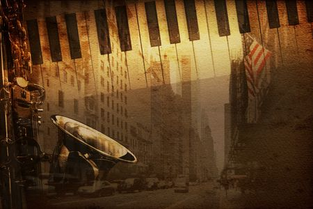 old historical new york background with broadway