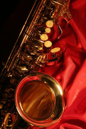 picture of a beautiful golden saxophone Stockfoto