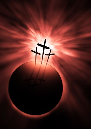 christian crosses: The creation is saved by the Lord Jesus Christ